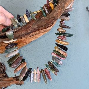 Mixed Stones Artisan Made Collar Necklace